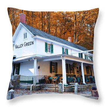 The Valley Green Inn In Autumn Throw Pillow