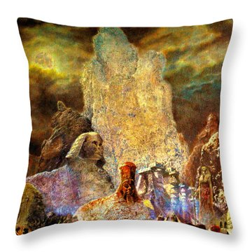 The Valley Of Sphinks Throw Pillow
