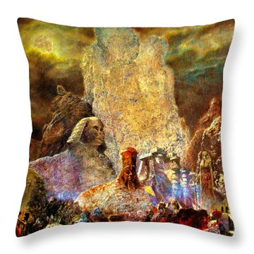 The Valley Of Sphinks Throw Pillow by Henryk Gorecki