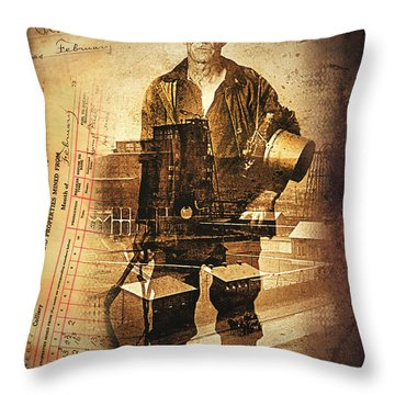 The Valley On My Mind.. Throw Pillow
