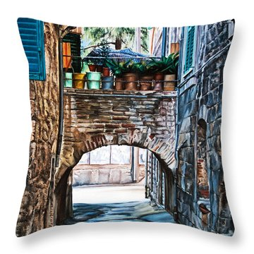 The Vase Arch Throw Pillow