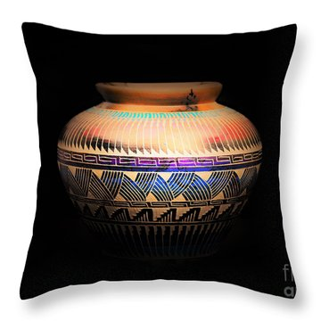 The Vase Of Joy Throw Pillow