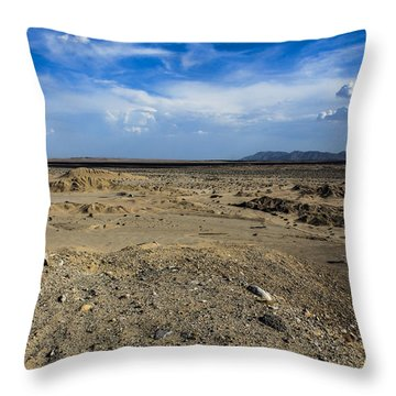 Throw Pillow featuring the photograph The Vastness by Break The Silhouette