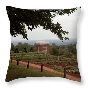 The Vegetable Garden At Monticello Throw Pillow