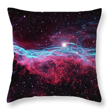 Throw Pillow featuring the photograph The Veil Nebula by Nasa