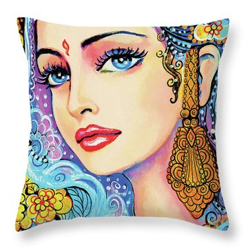 The Veil Of Aish Throw Pillow