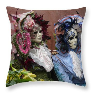 The Venetians Throw Pillow by John Bushnell