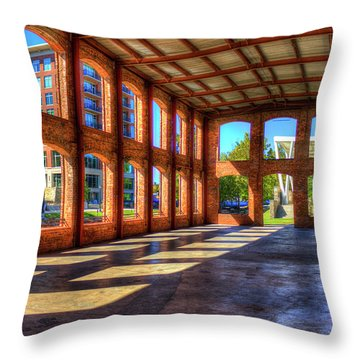 The Venue Old Mill Wedding Venue Reedy River South Caroline Art Throw Pillow