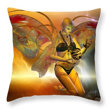 Throw Pillow featuring the digital art the VENUSIAN by Shadowlea Is