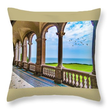 Throw Pillow featuring the photograph The Veranda by Paul Wear
