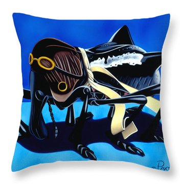 Throw Pillow featuring the painting The Veteran by Paxton Mobley