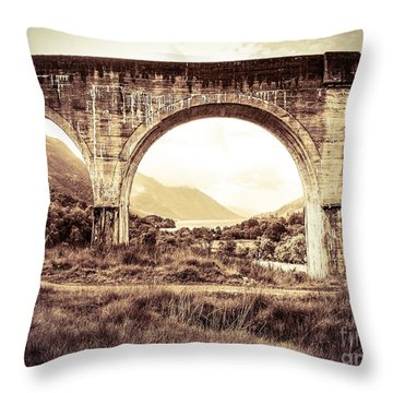 The Viaduct And The Loch Throw Pillow