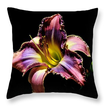 The Vibrant Lily Throw Pillow