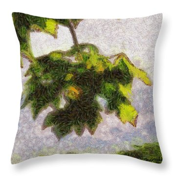 The Vibrating Sky Beyond Throw Pillow