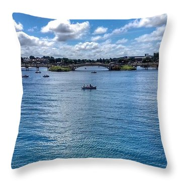 The Victorian Bridge Throw Pillow
