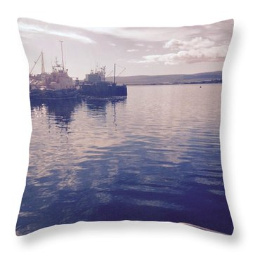 Stromness Harbour Throw Pillow