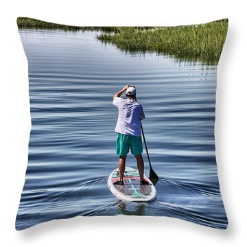 The View From A Bridge Throw Pillow