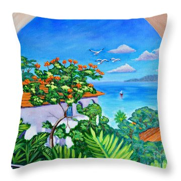 The View From A Window Throw Pillow
