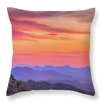 The View From Above Throw Pillow by Anthony Citro