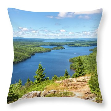 Throw Pillow featuring the photograph The View From Beech Mountain by John M Bailey