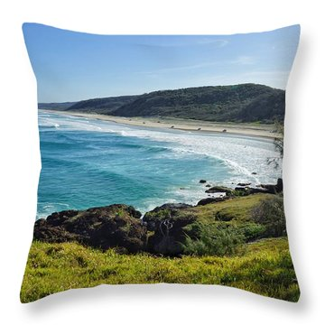 Throw Pillow featuring the photograph The View From Double Island Point by Keiran Lusk