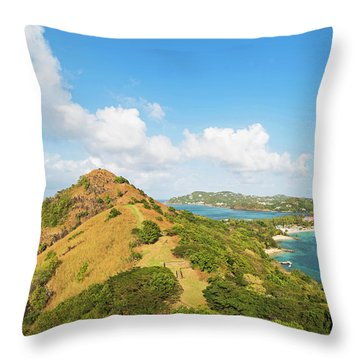 The View From Fort Rodney On Pigeon Island Gros Islet Throw Pillow