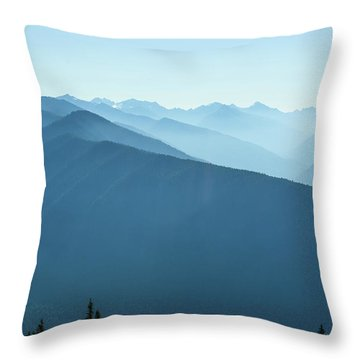 The View From Hurricane Ridge Throw Pillow