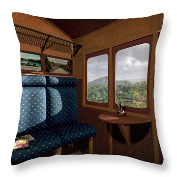 The View From Marion Station Throw Pillow by Cynthia Decker