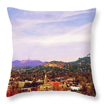 The View From Olive Hill Throw Pillow by Timothy Bulone