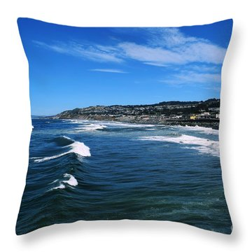 The View From The Pacifica Pier Throw Pillow
