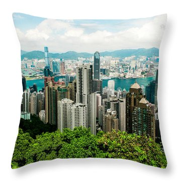 The View From The Peak Throw Pillow