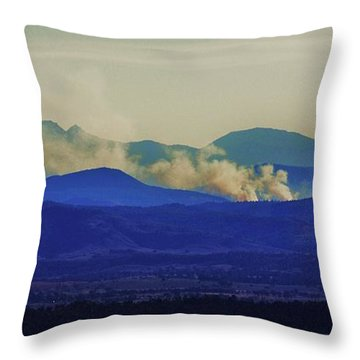 The View From The Top Throw Pillow by Blair Stuart