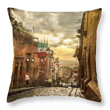 The View Looking Down Throw Pillow