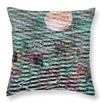 The View Over Atlantis Throw Pillow by Andy  Mercer