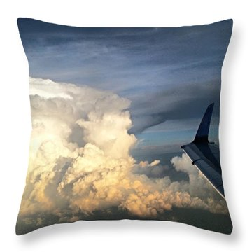 The #viewfrommywindow Of My #airplane Throw Pillow