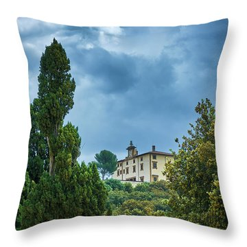 The Views From The Boboli Gardens Throw Pillow