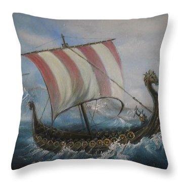 The Vikings Throw Pillow