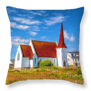 The Village Church Throw Pillow