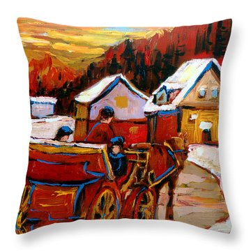 The Village Of Saint Jerome Throw Pillow
