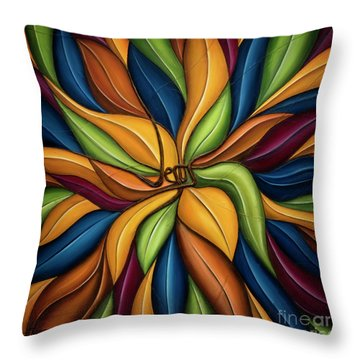 Throw Pillow featuring the mixed media The Vine by Shevon Johnson