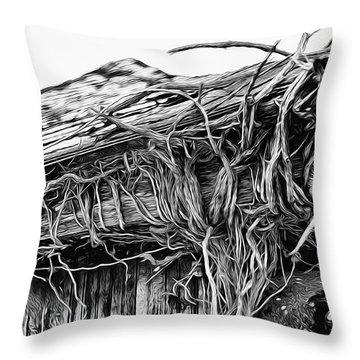The Vines Awaken Throw Pillow