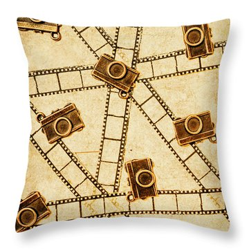 The Vintage Photo Gallery Throw Pillow