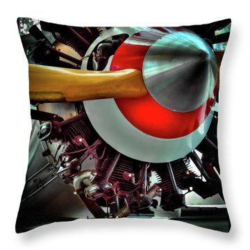 Throw Pillow featuring the photograph The Vintage Stearman C-3b Biplane by David Patterson