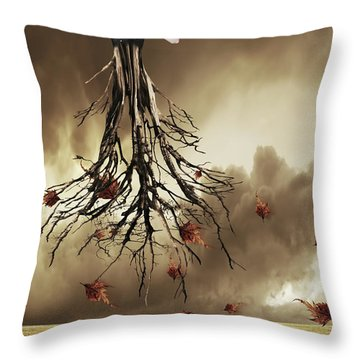 The Violin Player Throw Pillow