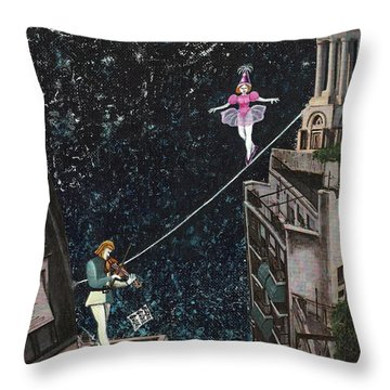 The Violinist And The Dancer Throw Pillow
