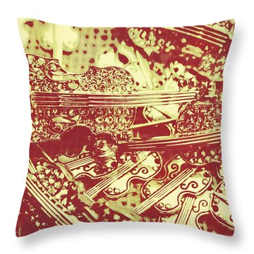 The Violinist Playwright Throw Pillow