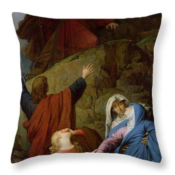 The Virgin Of Calvary Throw Pillow by Jules Eugene Lenepveu