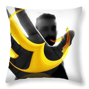 The Virtual Reality Banana Throw Pillow