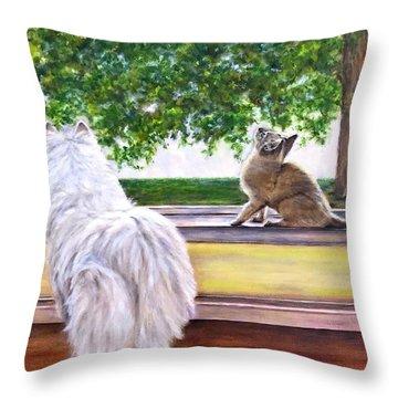 The Visit Throw Pillow