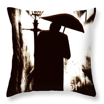 Throw Pillow featuring the digital art The Visitor  by Fine Art By Andrew David